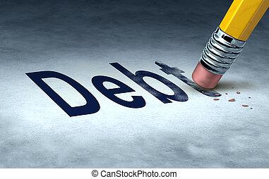 töröl, adósság