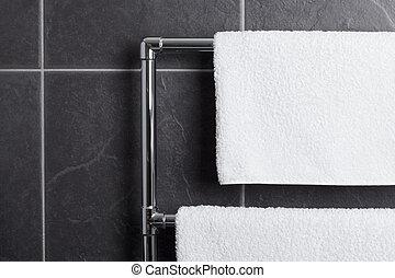 törülköző, fürdőszoba, korlát