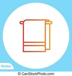 törülköző, jelkép, ikon, vektor, lakás, aláír