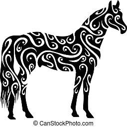 törzsi, ló