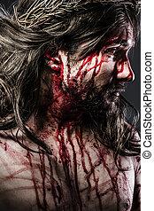 tövis, fejtető, krisztus, jézus