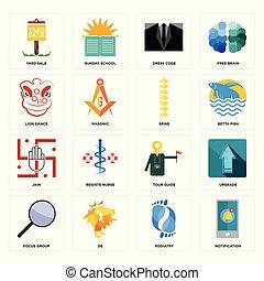 túravezető, állhatatos, udvar, ikonok, csoport, kiárusítás, figyelmeztetés, összpontosít, gerinc, oroszlán, táncol, ruha, lábgyógyítás, kód, jain