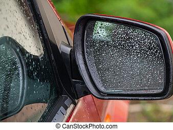 tükör, lejtő, savanyúcukorka, fenék, autó, kilátás, eső