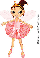 tündér, balerina, csinos