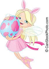 tündér, húsvét, csinos, tojás, repülés