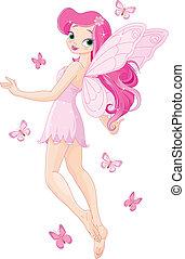 tündér, rózsaszínű, csinos