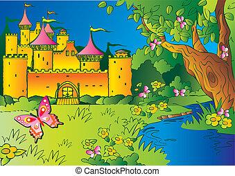 tündérmese, castle.