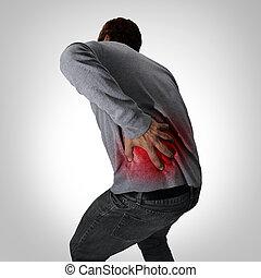 tünetek, hát, fájdalmas