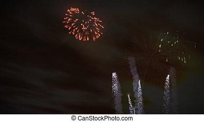 tűzijáték, napnyugta, ünneplés