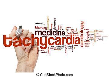 tachycardia, szó, felhő