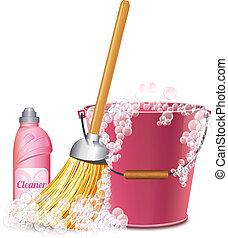 takarítás, ikon
