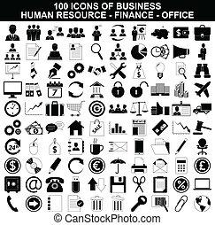 találékonyság, állhatatos, pénzel, hivatal icons, ügy, emberi