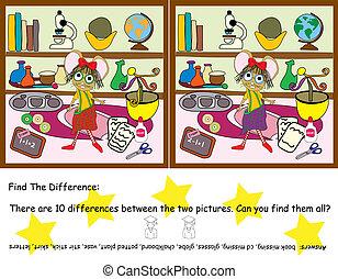 talál, játék, különbség