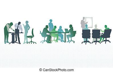 találkozó, hivatal