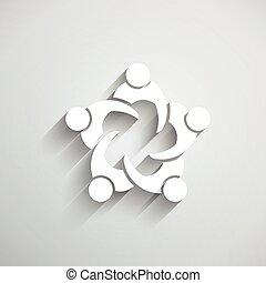 találkozik emberek, circle., csoport