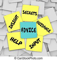 tanács, segítség, titkos, tanácsadás, bepillantás, kellemetlen hangjegy