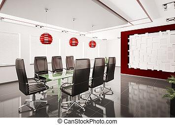 tanácskozóterem, belső, modern, 3