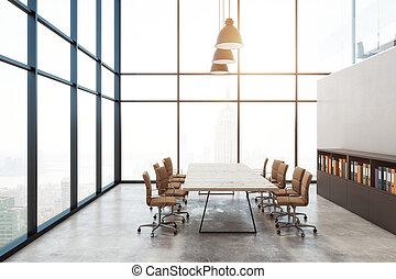 tanácskozóterem, belső, modern