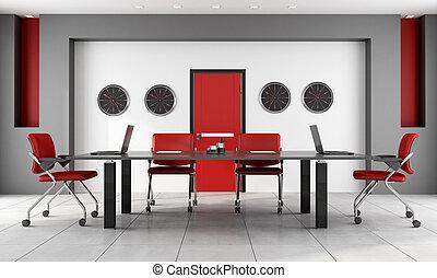 tanácskozóterem, black piros