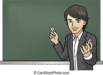 tanár, les, szenvedélyes, cramschool