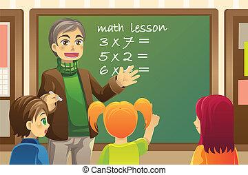 tanár, osztályterem