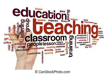 tanítás, szó, felhő