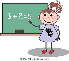 tanít lány