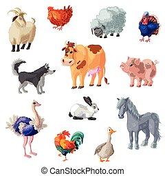 tanya, állhatatos, állatok, karikatúra