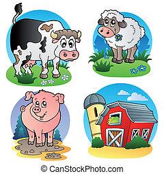 tanya, 1, különféle, állatok