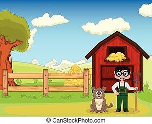 tanya, kutya, farmer