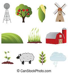 tanya, mezőgazdaság, ikonok
