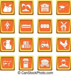 tanya, narancs, állhatatos, ikonok