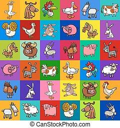tanya, példa tervezés, állatok, karikatúra
