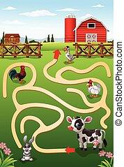 tanya, segítség, tehén, talál