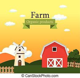 tanya, szerves, termékek, színhely, címke