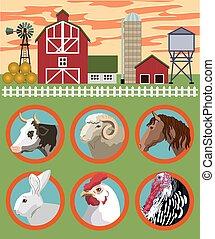 tanya, tenyésztés, állatok