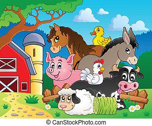 tanya, topic, kép, állatok, 3