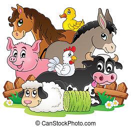 tanya, topic, kép, 2, állatok