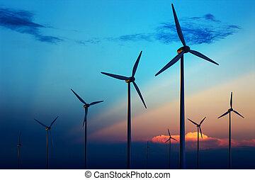 tanya, turbina, napnyugta, felteker