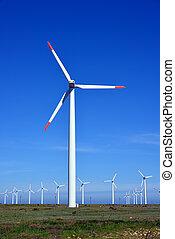 tanya, turbines, energia, -, forrás, választás, felteker