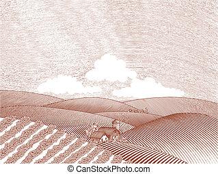 tanya, vidéki táj