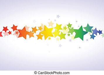 tapéta, színes, csillaggal díszít