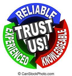 tapasztalt, értelmes, megbízható, bennünket, szavak, karika, tröszt