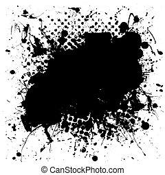 tarka, grunge, locsogás, tinta