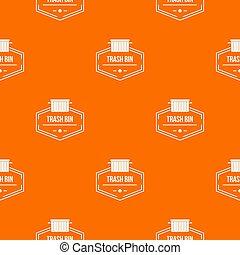 tartó, motívum, konténer, narancs