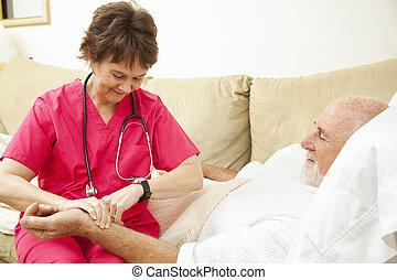 tart, érverés, egészség, otthon, ápoló