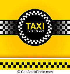 taxi, derékszögben, jelkép