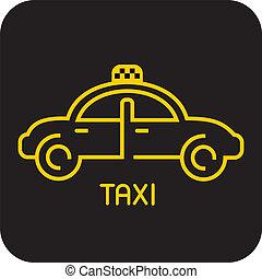 taxi, ikon