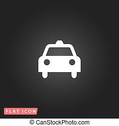 taxi, lakás, ikon
