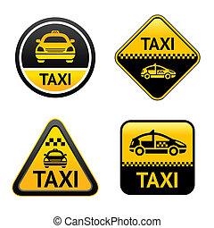 taxi taxizik, állhatatos, gombok